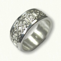 Sterling Silver Celtic Kinloss & Murphy Knot Wedding Band- 8.0 mm width