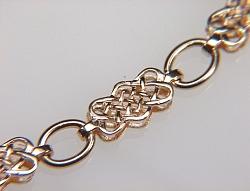 14KY Celtic Lace Knot  Bracelet