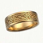 14kt yellow gold Celtic Laxford Knot Band