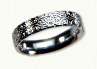 14kt white gold Lensidel Knot Band - no rails