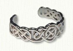 Pierced Lindesfarne Knot Cuff Bracelet