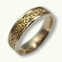 14kt Yellow Gold Celtic Lindesfarne Knot Band