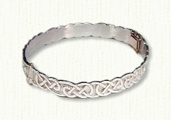 Hinged Lindesfarne Knot Bangle Bracelet