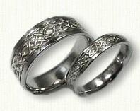 14kt white gold Celtic Longford Knot Band