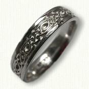 Longford Knot Wedding Band - Palladium