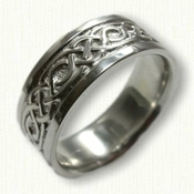 Sterling Silver Celtic Longford Knot Band - 8 mm width