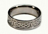 14kt white gold Loose Knot Celtic wedding bands