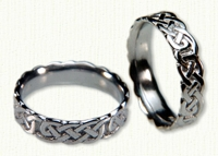 14kt white gold Sculpted Loose Knot Wedding Band