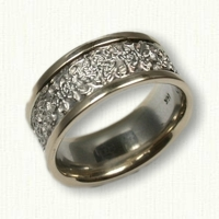 14kt Two Tone Celtic Love Knot Band- not tapered