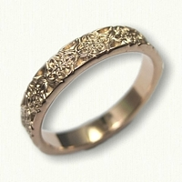 14kt Rose Gold Love Knot wedding ring without rails - straight edges