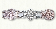 Celtic Love Knot and Cross Bracelet in rose gold and silver