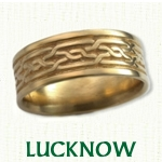 Lucknow Knot Celtic Wedding Bands