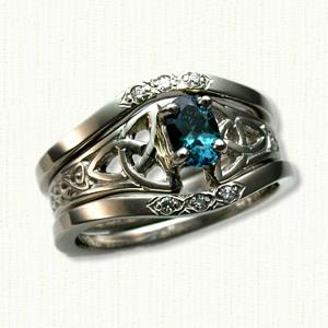 marishelle celtic gemstone rings custom celtic rings w