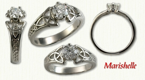 Standard Marishelle in 14kt white gold  set with .58ct diamond.