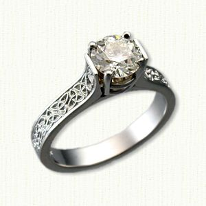 custom platinum celtic engagement rings wedding rings