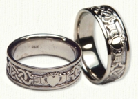14KY McMahon Claddagh Wedding Band