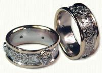 Custom Claddagh with diamond