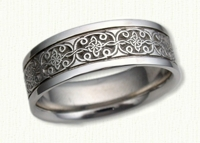 14kt white gold Mohan Knot celtic wedding rings