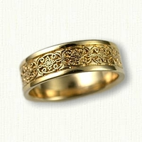 14kt Yellow Gold Celtic Mohan Knot Wedding Band - 7.0 mm