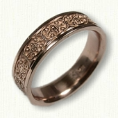 14kt Rose Gold Celtic Mohan Knot Wedding Band