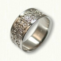 Sterling Silver Celtic Mohan Knot Wedding Band - 9.0 mm wide