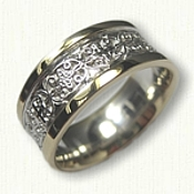 14kt Two Tone Celtic Mohan Knot Wedding Band