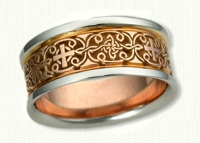 Celtic Mohan Knot with Cross Wedding Band