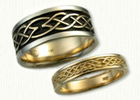 Stretched Murphy Knot Wedding Bands