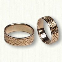 14kt Yellow Gold Celtic Murphy Knot Wedding Band Set