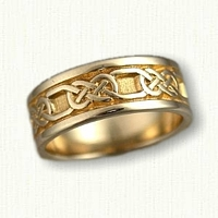 14kt Yellow Gold Celtic Murphy Knot Band- with spacing