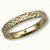 14kt Yellow Gold Narrow Murphy Knot with Diamonds