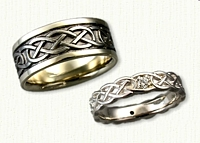 New 14kt White Gold Celtic Murphy-Infinity Wedding Band Set
