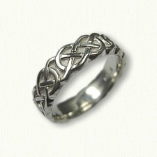 Sterling Silver Celtic Murphy Knot Wedding Band - Sculpted -7.0 mm width