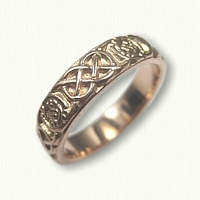 14kt Rose Gold Celtic Circle Murphy Knot Band - 4.8 mm no rails
