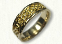 14kt Yellow Gold Celtic Murphy Knot Wedding Band