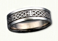 Celtic Murphy Knot with Cross Wedding Band
