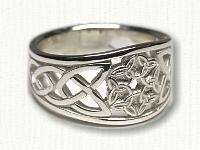 Tapered, pierced 6 Interlocking Triangles Ring