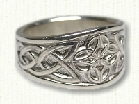 Tapered 4 Point Knot Celtic Rings