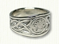 Triple Triangle Knot Tapered Celtic Ring