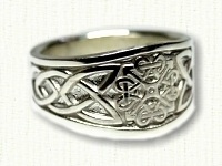 Tapered Celtic Square Knot Ring
