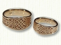 Tapered Celtic 6 Point Knot Ring