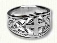 Tapered, pierced Celtic Spirals Ring