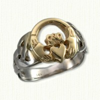Larger Open Roung Claddagh
