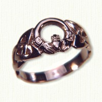 Small Open Round Claddagh