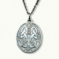 Custom Sterling Silver Celtic Ouzel Pendant