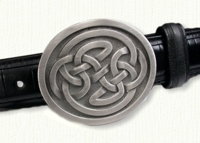 Celtic Oval Lindesfarne Knot Belt Buckle