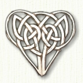 Intricate Heart Knot Pin