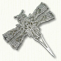 Celtic Dragonfly Pin in Sterling
