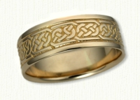 14kt yellow Pretzel Knot Wedding Band
