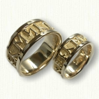 Custom Celtic Runes Wedding Band